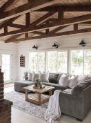 Fabulous farmhouse living room decor design ideas 04