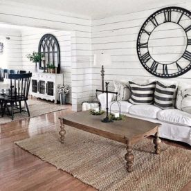 Fabulous farmhouse living room decor design ideas 15