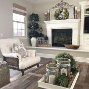 Fabulous farmhouse living room decor design ideas 24