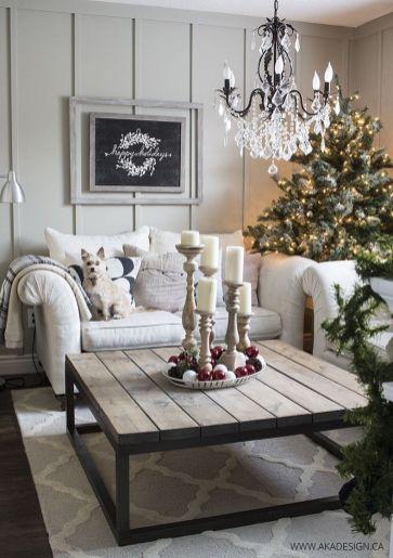 Fabulous farmhouse living room decor design ideas 33