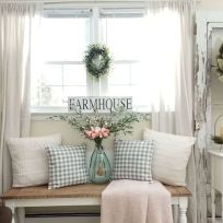 Fabulous farmhouse living room decor design ideas 36