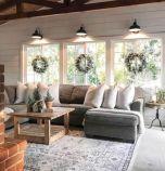 Fabulous farmhouse living room decor design ideas 46