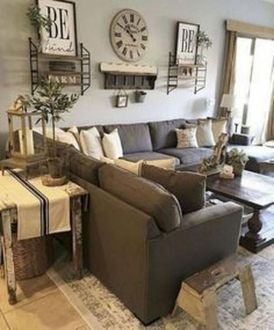 Gorgeous farmhouse living room decor design ideas 09