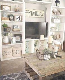 Gorgeous farmhouse living room decor design ideas 17