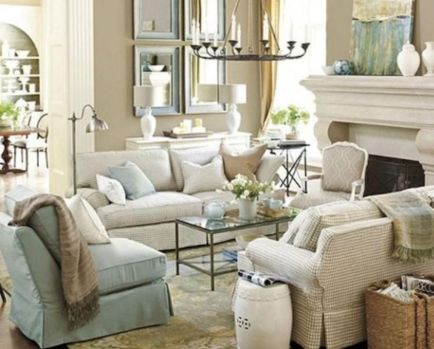 Gorgeous farmhouse living room decor design ideas 22