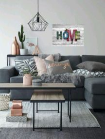 Gorgeous farmhouse living room decor design ideas 43