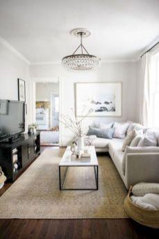 Gorgeous farmhouse living room decor design ideas 49