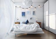 Gorgeous minimalist elegant white themed bedroom ideas 03