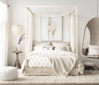 Gorgeous minimalist elegant white themed bedroom ideas 25