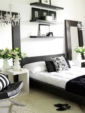 Gorgeous minimalist elegant white themed bedroom ideas 30