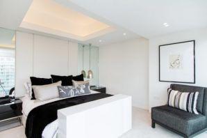 Gorgeous minimalist elegant white themed bedroom ideas 44