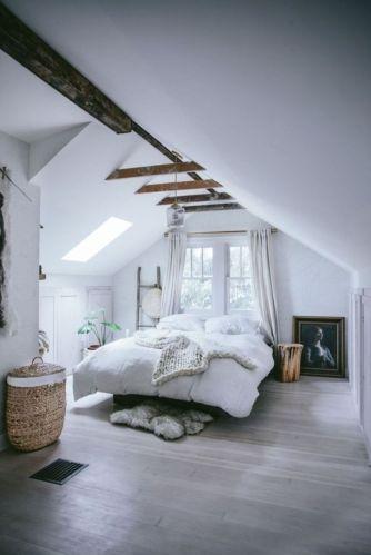 Gorgeous minimalist elegant white themed bedroom ideas 45