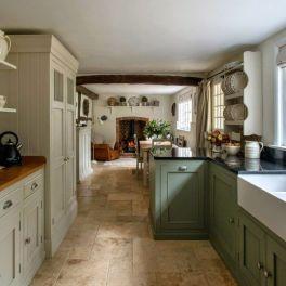 Impressive farmhouse country kitchen decor ideas 01