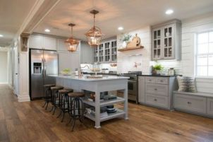 Impressive farmhouse country kitchen decor ideas 02