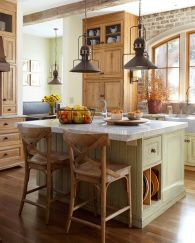 Impressive farmhouse country kitchen decor ideas 09