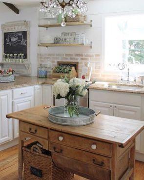 Impressive farmhouse country kitchen decor ideas 13