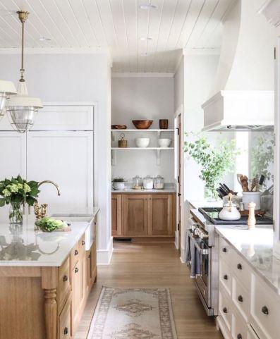 Impressive farmhouse country kitchen decor ideas 23