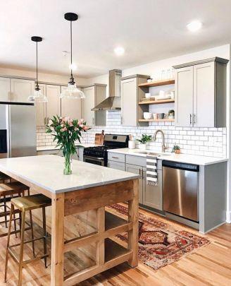 Impressive farmhouse country kitchen decor ideas 33