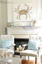 Lovely rustic coastal living room design ideas 10