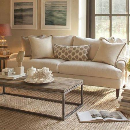 Lovely rustic coastal living room design ideas 43