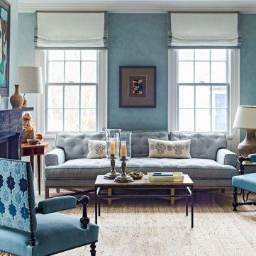 Lovely rustic coastal living room design ideas 44