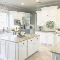 Most popular grey and white kitchen curtains ideas 26