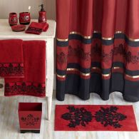 Most popular red black and white bathroom decor ideas 08