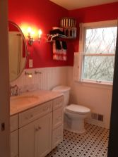 Most popular red black and white bathroom decor ideas 20