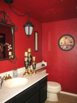 Most popular red black and white bathroom decor ideas 23