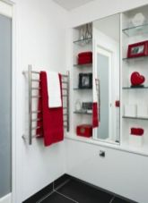 Most popular red black and white bathroom decor ideas 39