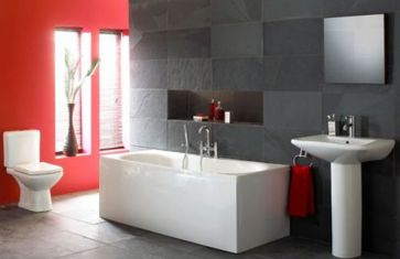 Most popular red black and white bathroom decor ideas 44