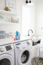 Outstanding black and white laundry room ideas 02