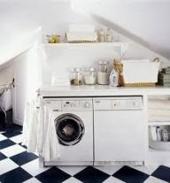 Outstanding black and white laundry room ideas 09