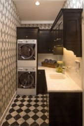 Outstanding black and white laundry room ideas 23
