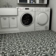 Outstanding black and white laundry room ideas 26