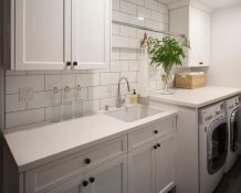 Outstanding black and white laundry room ideas 27