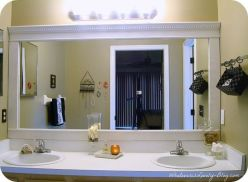 Stunning bathroom mirror decor ideas 35