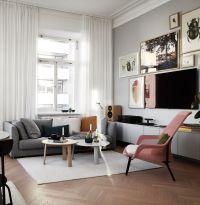 Stunning living room wall gallery design ideas 01