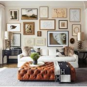Stunning living room wall gallery design ideas 02