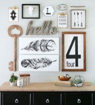 Stunning living room wall gallery design ideas 17