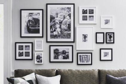 Stunning living room wall gallery design ideas 22