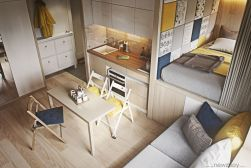 Unusual tiny living room design ideas for tiny house 16