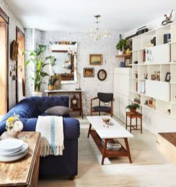 Unusual tiny living room design ideas for tiny house 43