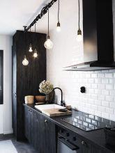Amazing black kitchen design ideas 07