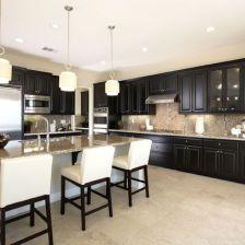 Amazing black kitchen design ideas 26