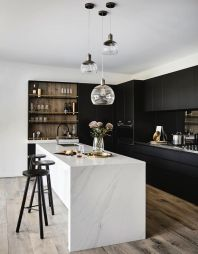 Amazing black kitchen design ideas 28