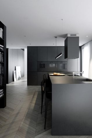 Amazing black kitchen design ideas 34