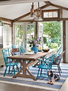 Amazing dinning room ideas with natural farmhouse style 16