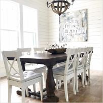Amazing dinning room ideas with natural farmhouse style 17