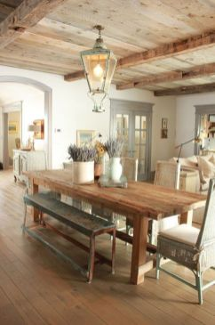 Amazing dinning room ideas with natural farmhouse style 18